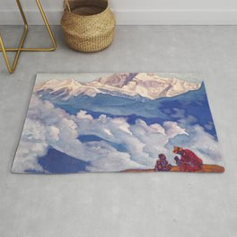 12,000pixel-500dpi - Nicholas Roerich - Pearl Of Searching - Digital Remastered Edition Rug