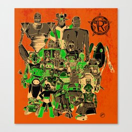 Robo-rama : The Great Robot Reunion Canvas Print