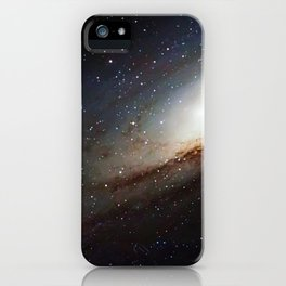 The Andromeda Galaxy, spiral galaxy in the constellation of Andromeda Messier 31 M31 iPhone Case