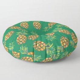 Pineapple Pattern Green Floor Pillow
