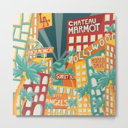 LA! Metal Print