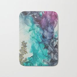 Remembering_ abstract painting , alcohol ink painting Bath Mat
