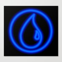 magic the gathering Canvas Prints featuring Magic the Gathering, Neon Blue Mana by Thorn Blackstar