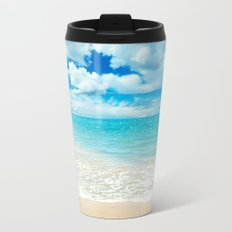 Beach - Ocean - Clouds - Water - Waves Metal Travel Mug