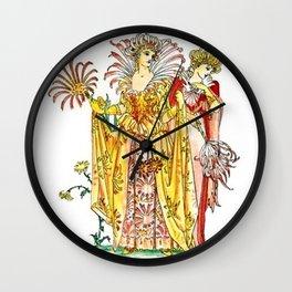Vintage Tiger-Lily Lady Goddess Wall Clock