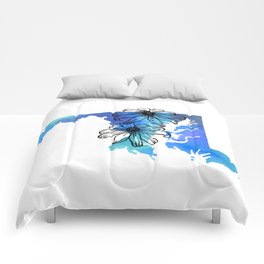 Watercolor Maryland + Black Eyed Susans Comforters