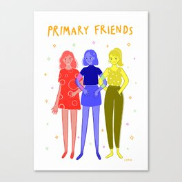 Primary Friends Canvas Print