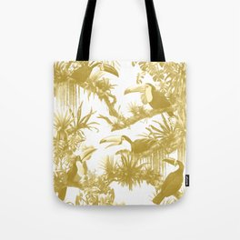 Toucans and Bromeliads - Spicy Mustard Tote Bag