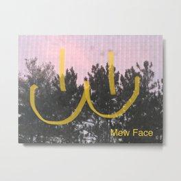 mew face Metal Print