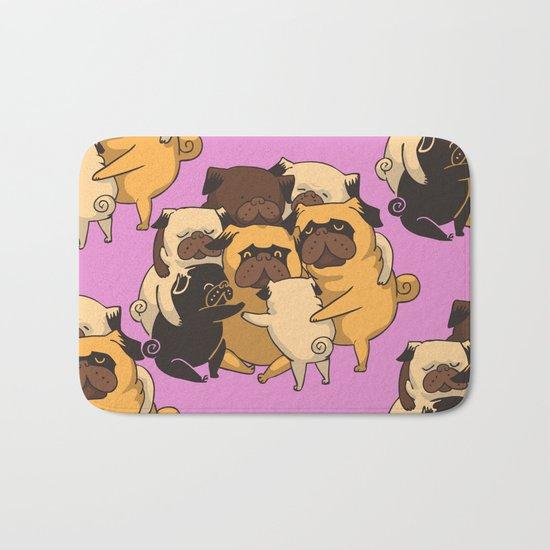 Pugs Group Hug Bath Mat