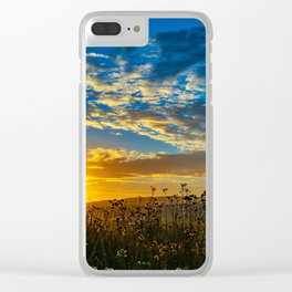 Wildflower Sunrise Clear iPhone Case