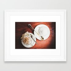 latte and hot chocolate Framed Art Print