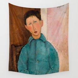 "Amedeo Modigliani ""Boy in a Blue Vest"" 1918 Wall Tapestry"