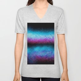 Equal fiber optic light painting Unisex V-Neck