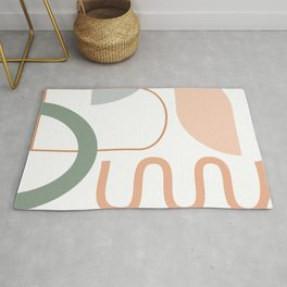 Organic Shapes Collage 2 in Neutral Earth Tones Rug