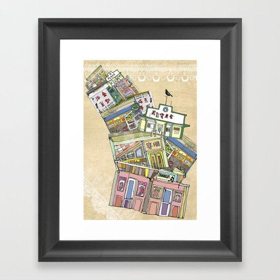 old houses Framed Art Print