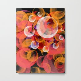 Solar System Abstract Metal Print