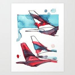 Layover Art Print