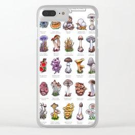 Devon Mushrooms Clear iPhone Case