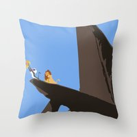 the lion king Throw Pillows featuring Lion King by TheWonderlander