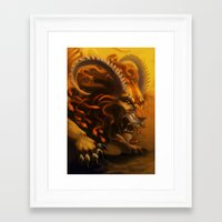 fierce Framed Art Prints featuring Fierce by Armored Collective
