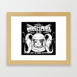 Michael Intergalaxon (Black & White) Framed Art Print