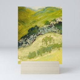 Cove of the Mountain Abstract Painting Mini Art Print
