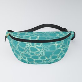 Teal Cells Fanny Pack