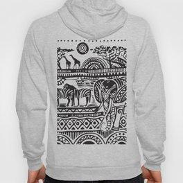 African Tribal Pattern No. 17 Hoody