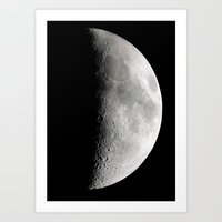 moon phase Art Prints featuring Moon Phase by Dawn East Sider