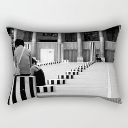 Full speed ahead into the wall Rectangular Pillow