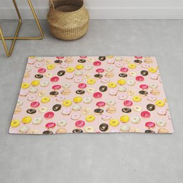 It's donut time - pink Rug