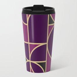 Art Deco Morning Dance In Purple In Big Scale Travel Mug