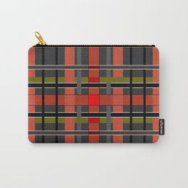 Gray orange plaid Carry-All Pouch