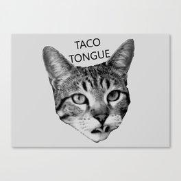 Taco Tongue Canvas Print
