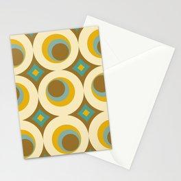 Mid-Century Modern Moonrise Stationery Cards