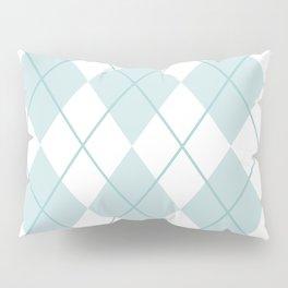 Blue Argyle Pillow Sham