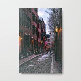Acorn Street, Boston, USA Metal Print
