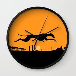 Halloween Whippet Wall Clock