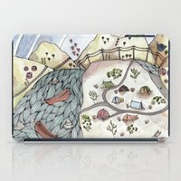 camp iPad Cases featuring Desert Camp by Brooke Weeber