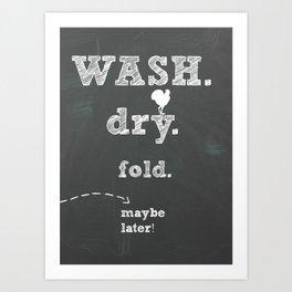 Laundry room print Art Print