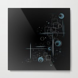 Retro Geometric Night Metal Print