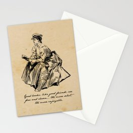 Lousia May Alcott - Good Books Stationery Cards