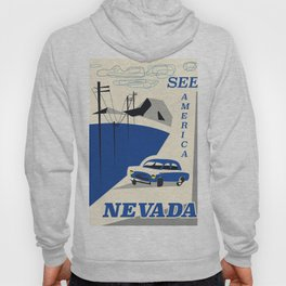 Nevada vintage travel poster Hoody