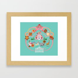 Cookies and Cream, Biscuits and Tea. Framed Art Print