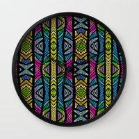 xoxo Wall Clocks featuring XOXO by Klara Acel