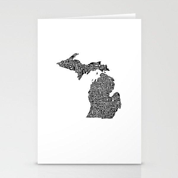 Typographic Michigan Stationery Cards