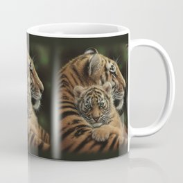 Tiger Mother and Cub - Cherished Coffee Mug