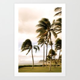 Vintage Hawaii Palm Trees Art Print
