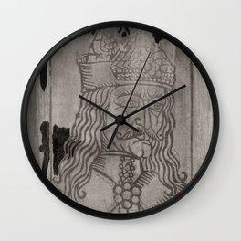 Vlad The Impaler - A Screen Print Portrait Wall Clock